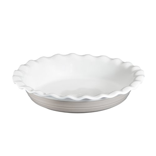 Corningware Etch 9.5 Inch Pie Plate In Sand