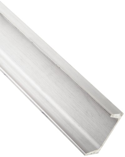 "Aluminum 6061-T6 U-Channel, Rounded Corner Style, AMS QQ-A-200/9, ASTM B221, 0.15"" Thick, 5"" Base Width, 2-1/4"" Leg Length, 36"" Length"