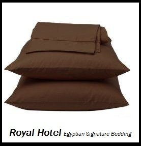 Royal Hotel's Solid Chocolate 1200-Thread-Count 4pc California-King Bed Sheet Set 100-Percent Egyptian Cotton, Sateen Solid, Deep Pocket, 1200 TC