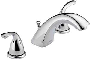 Delta Faucet 3530LF-MPU Classic Two Handle Widespread Lavatory Faucet, Chrome