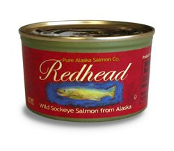 Redhead Wild Sockeye Salmon From Alaska, (12) 7.5 Oz. Cans (Sockeye Salmon Canned compare prices)