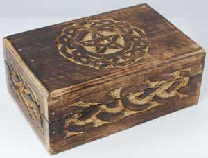 Wooden Box With Celtic Circle