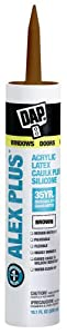 Dap 18120 Acrylic Latex Caulk With Silicone, 10.1-Ounce, Brown