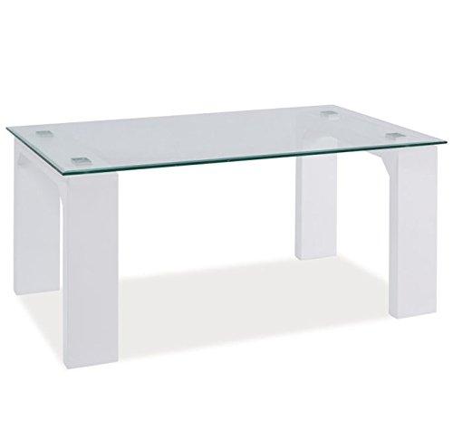 Letti e Mobili - Tavolino Taric con vetro 110x60x50cm