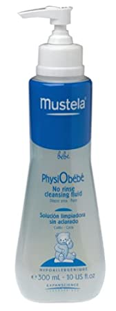 Mustela PhysiObebe No Rinse Cleansing, Diaper Area - Face 10.14 fl oz (300 ml)