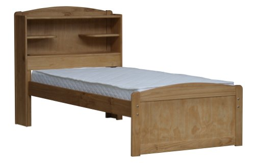 3'0 BOOKCASE BED IN WAXED PINE