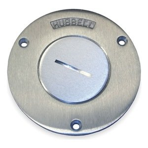Round Floor Box Cover, Single Receptacle
