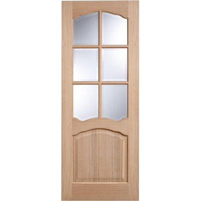 LPD Door, Interior Internal Door, Elegance Oak - Riviera Glazed - 78