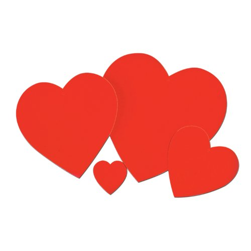 Printed Heart Cutout Party Accessory (1 count)