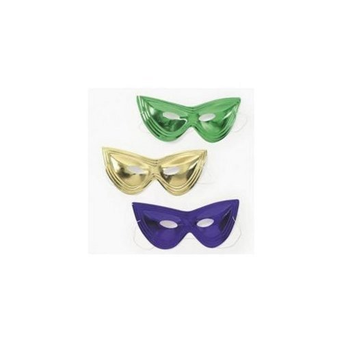 Mardi Gras Cat Eye Masks (2 dz) [Toy]