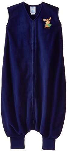 HALO Big Kids Sleepsack Micro Fleece Wearable Blanket, Blue Moose, 4-5T