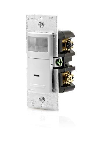 Leviton IPS06-1LW 600-Watt Incandescent, 150-Watt LED/CFL Occupancy Sensor (Auto ON/Auto OFF), Single Pole or 3-Way, (Leviton Light Sensor compare prices)
