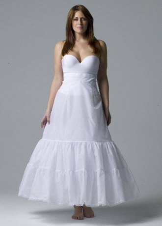 David's Bridal Plus size: A-Line Medium Fullness 2-Tier Slip Style 9603W onSale
