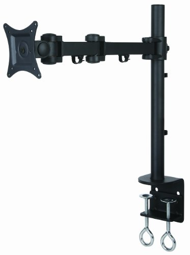 """Halter Single Pole With Triple Jointed Arm Lcd Monitor Mount Stand Desk Clamp Holds Up To 27"""" Lcd Monitors"""