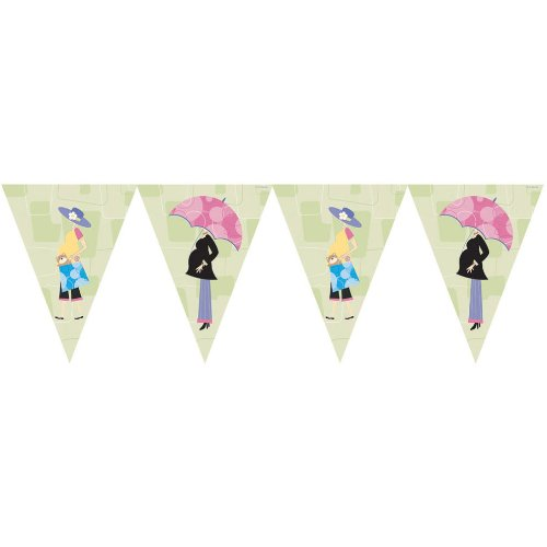 Mod Mom's Baby Shower Flag Banner - 1