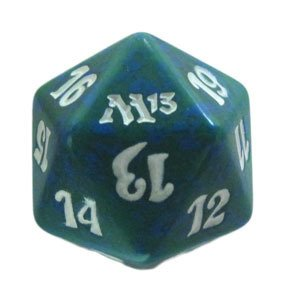 MTG Spindown D20 Life Counter - M13 Magic 2013 Green - 1