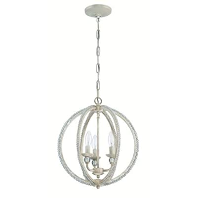 Jeremiah Lighting 1043 3 Light 1 Tier Globe Chandelier - 15 Inches Wide,