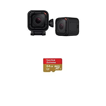 GoPro Camera Hero4 Session (DE-Version) + SanDisk 64GB Speicherkarte (bis zu 90 MB/Sek.)