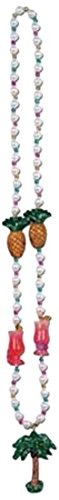 Luau Party Beads w/Palm Tree Medallion Party Accessory (1 count) (1/Card)