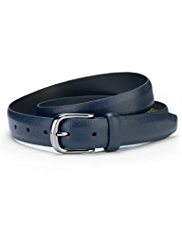 Coated Leather Square Buckle Belt