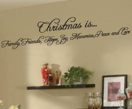 Christmas Family Vinyl Wall Sticker Art Decor