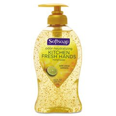 Softsoap Kitchen Fresh Hands, Odor Neutralizing Hand Soap, 8.5 oz Pump Bottle (074182265830)