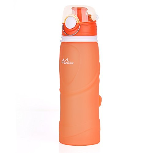 MoKo-Collapsible-Water-Bottle-750ml-Unbreakable-Foldable-Leak-Proof-Silicone-Sports-Bottle-Medical-Grade-Silicone-BPA-Free-FDA-Approved