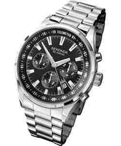 Sekonda Men's Cadran Noir Bracelet Montre chronographe (90GCA00)