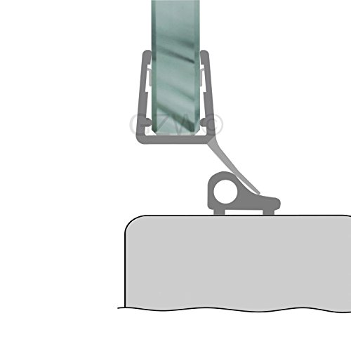 80 cm Duschdichtung Streifdichtung Ersatzdichtung Glasdusche Duschtür 5-8 mm Glasstärke 11,49/m