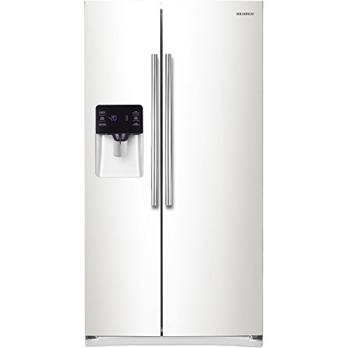 Samsung RS25H5111WW Energy Star 24.5 Cu. Ft. Side-by-Side Refrigerator/Freezer with External Water/Ice Dispenser and In-Door Ice Maker, White (Samsung Freeze compare prices)
