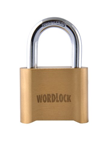 Wordlock Pl-048-Ss 4-Dial Brass Lock, Short Shackle