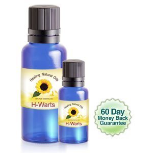 Wart Removal - H-Warts Treatment Natural Solution for Body, Verruca, Flat, Common Warts 33ml