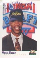 Mark Macon Denver Nuggets 1992 Skybox Draft Choice Autographed Hand Signed Trading... by Hall+of+Fame+Memorabilia