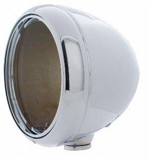 "(2) Chrome Headlight Lamp Housing Kits / Fits 7"" Round Headlights / Complete Kit"