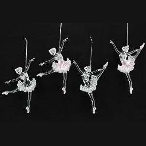 Gorgeous gisela graham acrylic clear pink ballerina for Ballerina christmas tree decoration