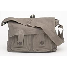 Classic Canvas Punk Retro Look Shoulder Bag