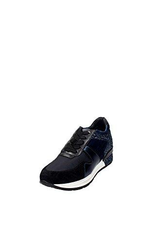 Janet Sport 38809 Sneaker Donna Camoscio Nero/blu Nero/blu 36