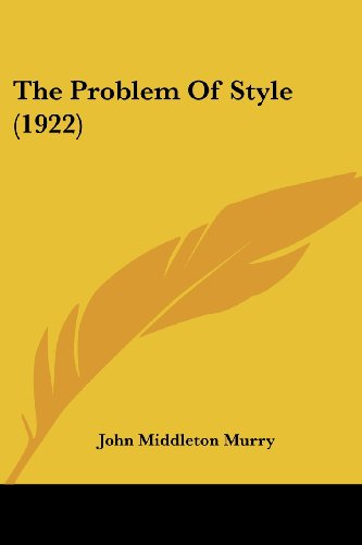 The Problem of Style (1922)