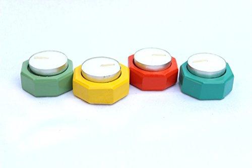 IVEI Wooden Tea Light Holders (Set Of 4)