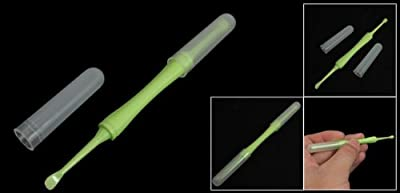 sourcingmap® Light Green Plastic Handle Spiral Earpick Ear Wax Remover