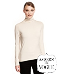 Autograph Polo Neck Top with Supima® Modal