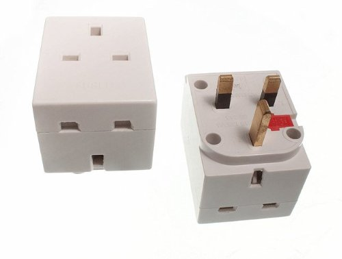 3 Way 13 Amp Fused Plug Socket Mains Household Adaptor ( Pack Of 50 )