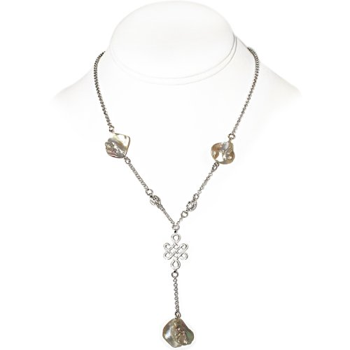 925 Sterling Silver Necklace with Shell and Sterling Silver Beads [Jewelry]