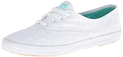 Buy Keds Ladies Champion Eyelet Low Cut Sneaker - White by Keds