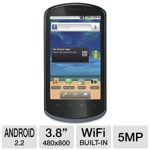 HUAWEI Impulse 4G U8800 Unlocked GSM Phone with Android 2.2 OS, Touchscreen, 5MP Camera, HD Video, GPS, Wi-Fi and Bluetooth - Black