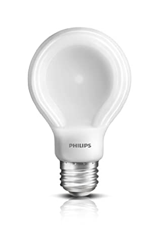 Philips 433227 10.5-watt Slim Style Dimmable A19 LED Light Bulb, Soft White