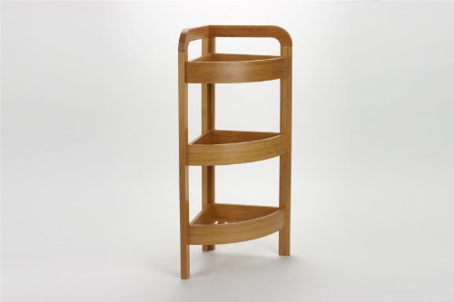 Gen rico estanter a esquinera bamb 3 estantes for Estanterias de bambu para bano