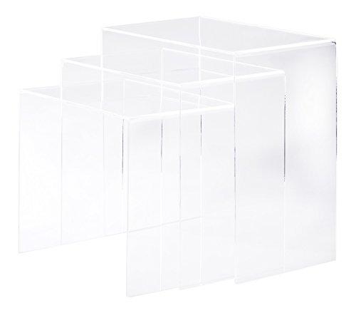homcom-02-0184-3er-Set-Beistelltisch-Acryltisch-Couchtisch-Wohnzimmertisch-Gebogener-Tisch-Neu-transparent