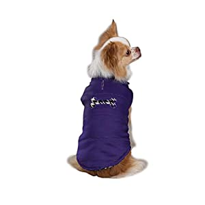 East Side Collection 8-Inch Polyester Houndstooth Dog Vest, XX-Small, Ultra Violet