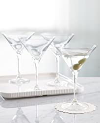 "Martha Stewart Collection ""Waterman"" Martini Glasses, Set of 4"